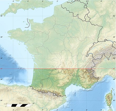 Southern France, based on a split along the 45th parallel. France Midi 45deg Latitude.jpg