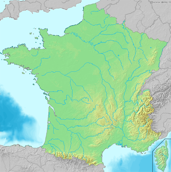 Vị trí của Paris trong nước Pháp