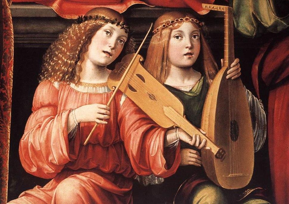 Francesco Francia - Madonna and Saints (detail) - WGA08174