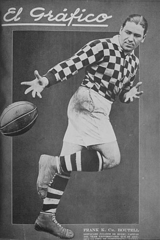 Club Universitario de Buenos Aires - Frank Chevallier Boutell, captain of the rugby union team, in 1926.
