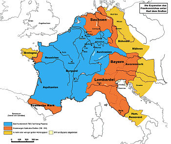 The Frankish empire of Charlemagne