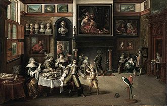 Samson and Delilah (Rubens) - Image: Frans Francken (II) Supper at the House of Burgomaster Rockox WGA8209