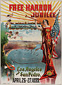 Free Harbor Jubilee poster, Los Angeles & San Pedro, California, 1899.jpg