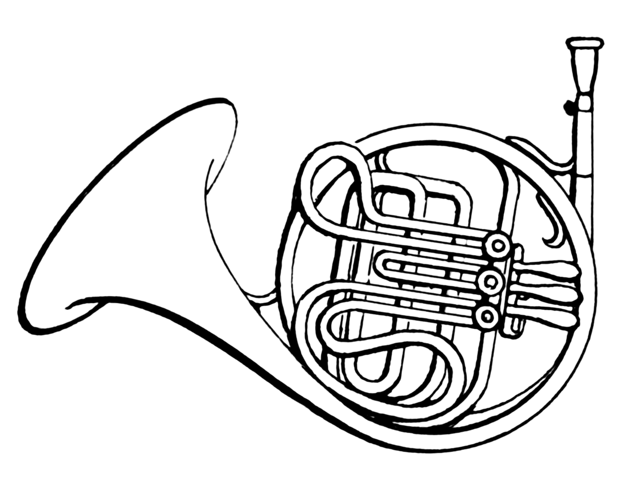 File french horn psf png wikimedia commons Coloring book wiki