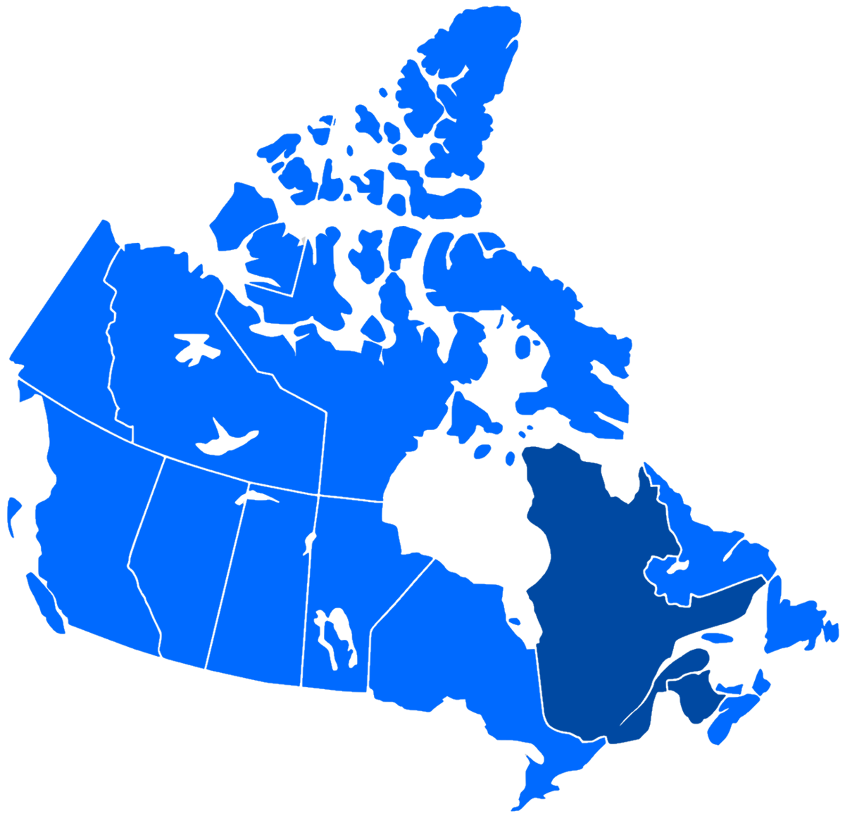 French Speakers In Canada Map French language in Canada   Wikipedia