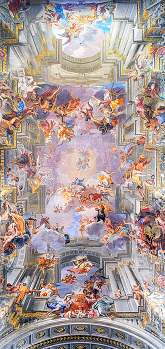 Andrea Pozzo - Andrea Pozzo's painted ceiling in the Church of St. Ignazio.