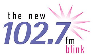 "WNEW-FM - WNEW last logo as ""Blink 102.7"""