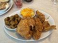 Fried chicken, fried okra and mac & cheese from Mary Mac's Tea Room in Atlanta.jpg