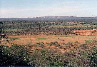 Serowe - View from Swaneng Hill east across the Kalahari