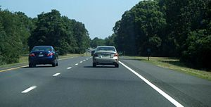 Garden State Parkway - Garden State Parkway northbound at mile marker 6 in Middle Township