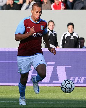 Gabby Agbonlahor - Agbonlahor playing for Aston Villa in 2008