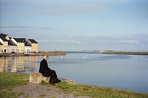 Spanish Arch - Ballyknow Quay, Claddagh, Galway, with The Long Walk in the background