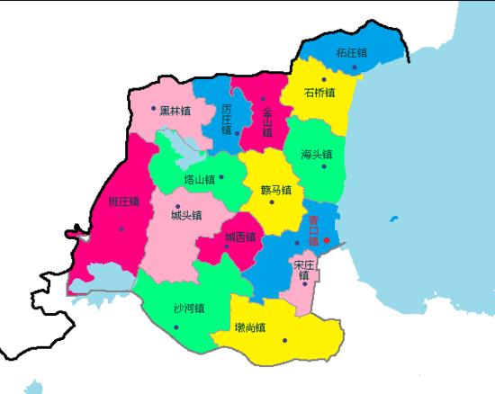 赣榆区行政区划地图