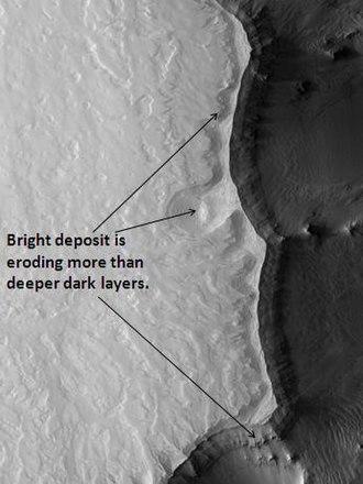 Coprates quadrangle - Image: Ganges Chasma Layers