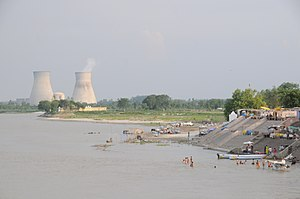 Ganges River near Narora Nuclear Power Plant UP India.jpg