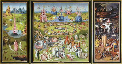 The Garden of Earthly Delights is a triptych made by Hieronymus Bosch.