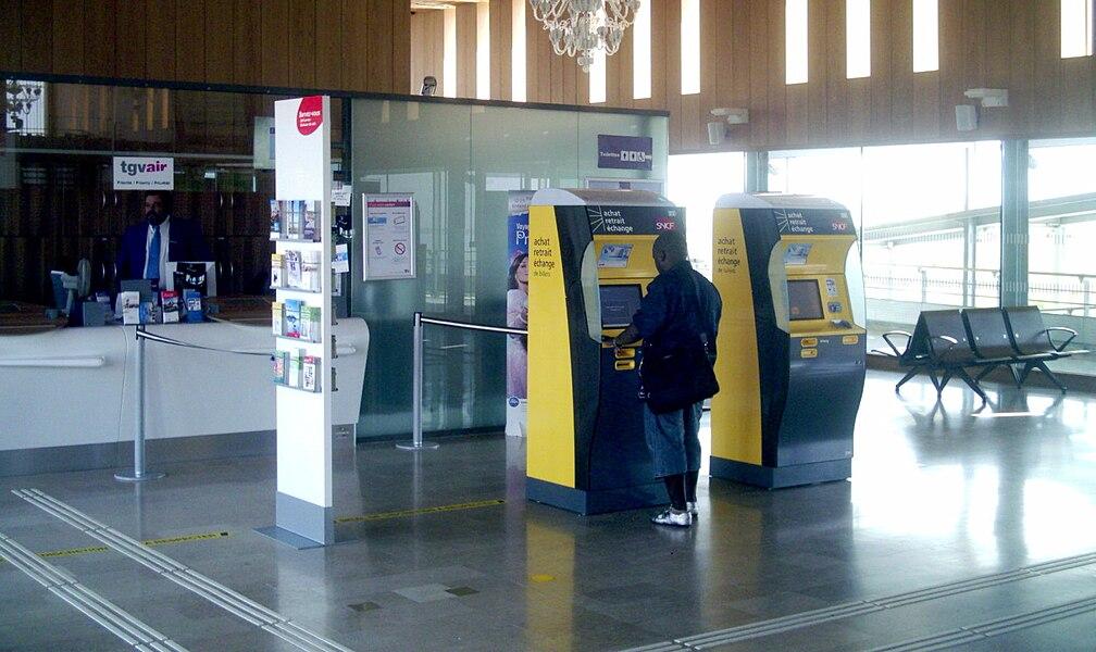 Hall de la gare Lorraine TGV de Louvigny