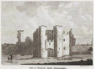 Gate of Pembroke castle, Pembrokeshire
