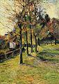 Gauguin 1885 Route bordée d'arbres à Rouen II.jpg
