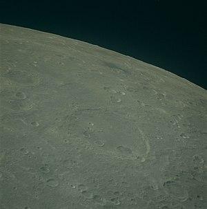 Gauss (crater) - Image: Gauss crater Lacus Spei AS16 122 19606