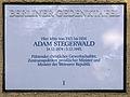 Gedenktafel Zoppoter Str 62 (Schmarg) Adam Stegerwald.JPG