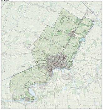 Leerdam - Dutch Topographic map of the municipality of Leerdam, June 2015