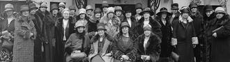 General Federation of Women's Clubs - GFWC clubwomen outside N Street headquarters, Washington DC, ca.1920s