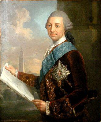 Frederick II, Duke of Mecklenburg-Schwerin - Portrait of Duke Frederick II by  Georg David Matthieu, 1772