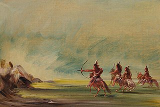 Comanche Giving Arrows to the Medicine Rock