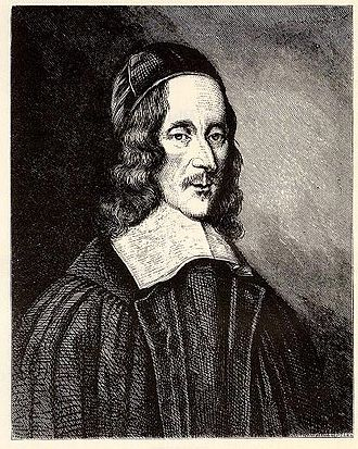 George Herbert - Portrait by Robert White in 1674 (National Portrait Gallery)