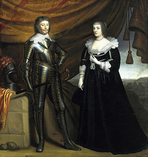Gerard van Honthorst - Prince Frederik Hendrik and his wife Amalia van Solms - 005