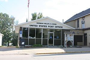 German Valley, Illinois - Post office for German Valley