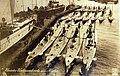 German submarines in harbor, U-22, U-20, U-19, and possibly U-21 (30208838432).jpg
