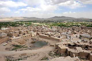 City in Ghazni Province, Afghanistan