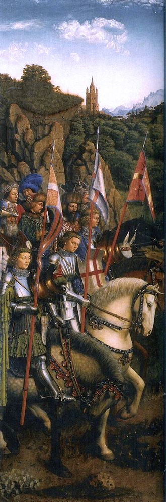 Royal standards of England - Knights of Christ Jan van Eyck