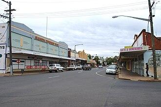 Gilgandra, New South Wales - The main street of Gilgandra