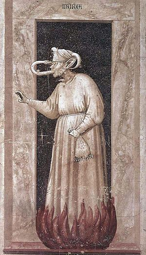 The Seven Vices - Envy, by Giotto (1306, Fresc...
