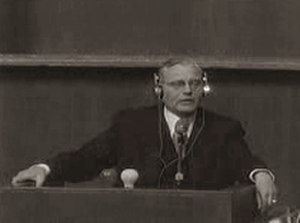 Hans Bernd Gisevius - Hans Bernd Gisevius at the Nuremberg trials.