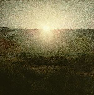After the Deluge (painting) - The Rising Sun, Giuseppe Pellizza da Volpedo, (1904)