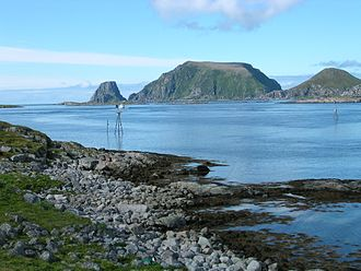 Nordkapp - View towards Gjesværstappan islands with seabird colonies