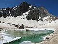Glacial lake in Alam Chal دریاچه یخچالی در علمچال - panoramio.jpg