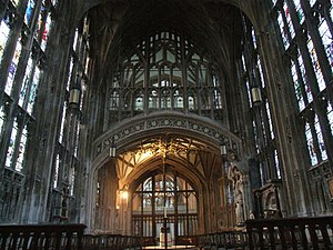 The Interior Of Gloucester Cathedral Gives An Impression A Cage Stone And Glass Typical Perpendicular Architecture No Decorated Style Tracery