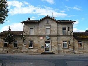 Riedstadt-Goddelau station - Entrance building from the street
