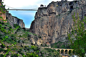 Sidi M'Cid Bridge - The gorge beneath the bridge