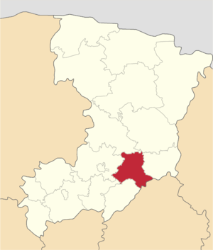 Goscha district on the map