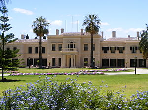 Government House, Adelaide - Government House from its southern fence