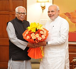 Governor of Uttar Pradesh Ram Naik calls on the Prime Minister Narendra Modi.jpg