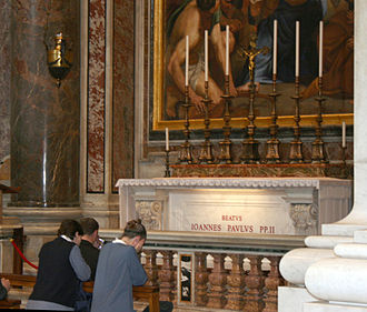 Beatification of Pope John Paul II - Tomb of John Paul II in The Chapel of St. Sebastian