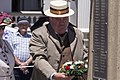 Graham Brown laying the wreath at the Centenary of the Kangaroo March commemoration ceremony.jpg