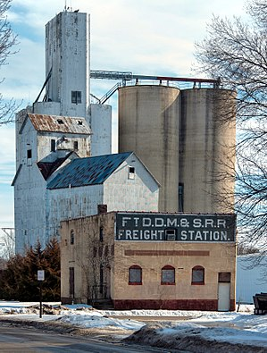 Boone, Iowa - Former freight station and grain elevator in Boone